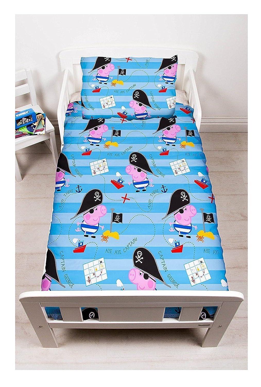 Amazon.com: Cartoon characters Brands :Junior Bed Set,4 piece Bedding Bundle Quilt,Pillow Pillowcase,Duvet cover (George pig,Pirate): Home & Kitchen