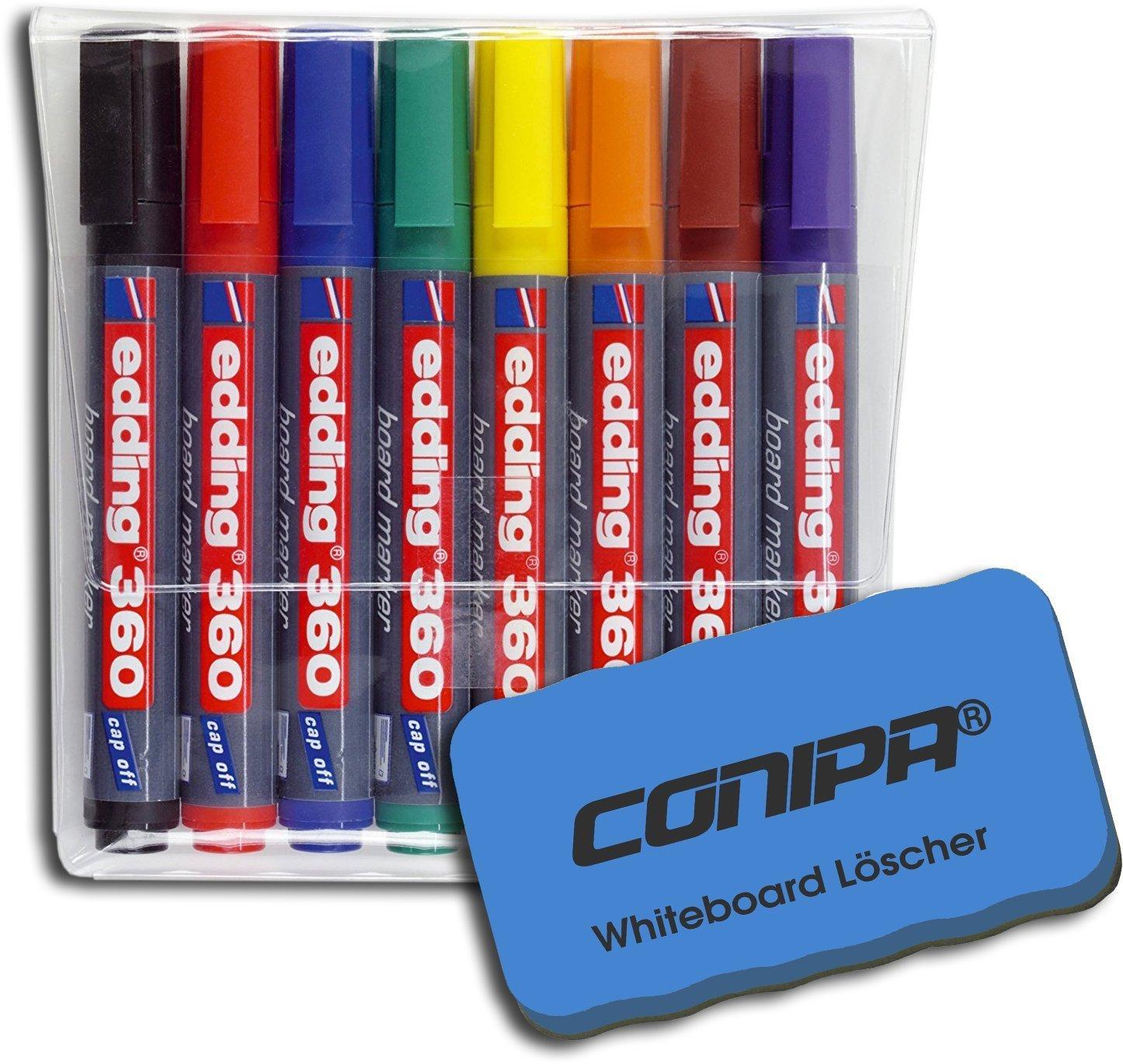 8-st/ück farblich sortiert edding 360 Boardmarker Rundspitze