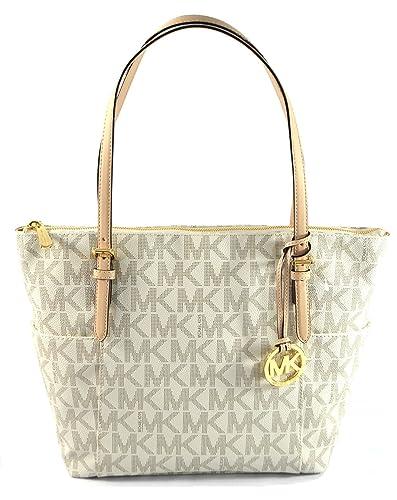 7c9088356e40 Michael Kors East West Top Zip PVC Vanilla Shoulder Bag Tote: Amazon.co.uk:  Shoes & Bags