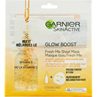 GARNIER Skinactive Glow Boost Fresh-Mix Sheet Mask With Vitamin C, for All Skin Types, 1 Count