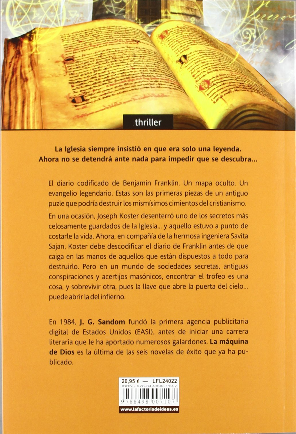 La máquina de Dios (Bonus): Amazon.es: J.G Sandom, Juan José Llanos Collado: Libros