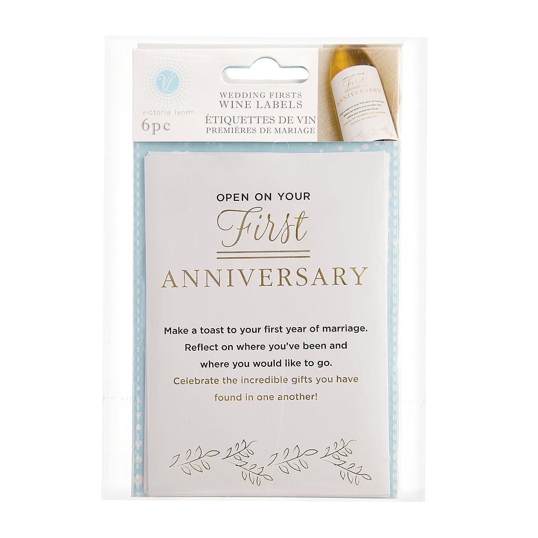 Darice Wedding Firsts and Milestone Wine Labels: Amazon.co.uk ...