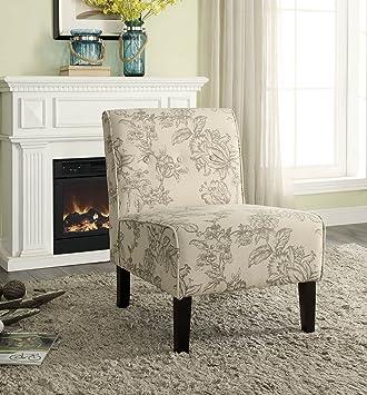 Fine Amazon Com Linon Home Decor Amzn1276 Lexi Gray Toile Accent Caraccident5 Cool Chair Designs And Ideas Caraccident5Info