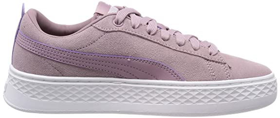 Amazon.com | Puma Womens Smash Platform SD Low-Top Sneakers, Purple (Elderberry White), 4.5 UK | Fashion Sneakers