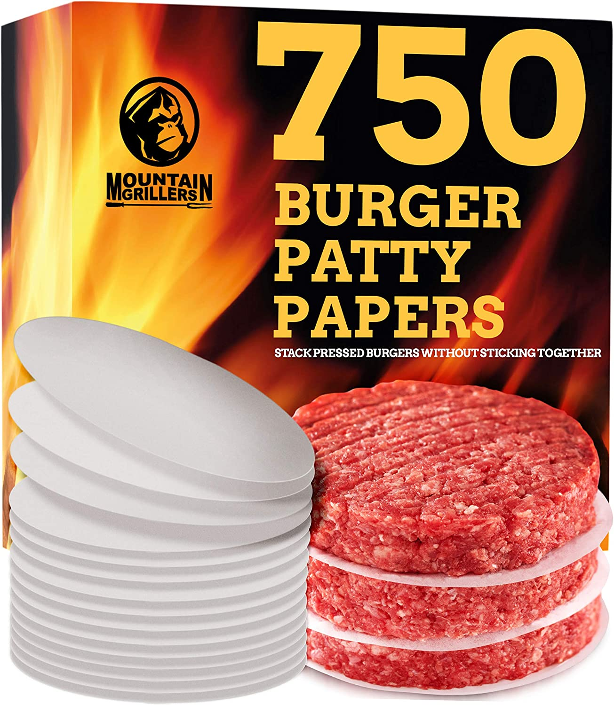 100 Pcs Round Paper Parchment Liners Safe BBQ Grill Paper Hamburger Patty Paper