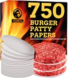 Mountain Grillers Hamburger Patty Paper - Wax Papers to Separate Frozen Pressed Patties - 750 Burger Sheets for Easy…