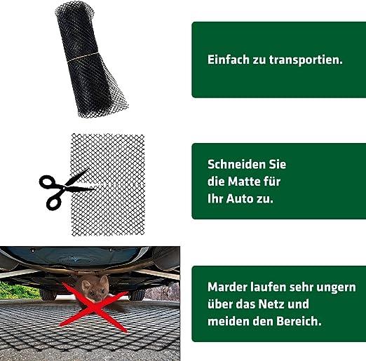 Gardigo Mardermatte Für Autos I Mardergitter I Marderabwehr Bodenmatte I Marderschutzgitter I 195 X 150 Cm Auto