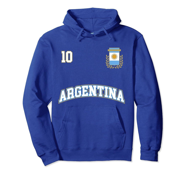 Argentina Hoodie No. 10 Soccer Team Shirt Seleccion Futbol at Amazon Mens Clothing store: