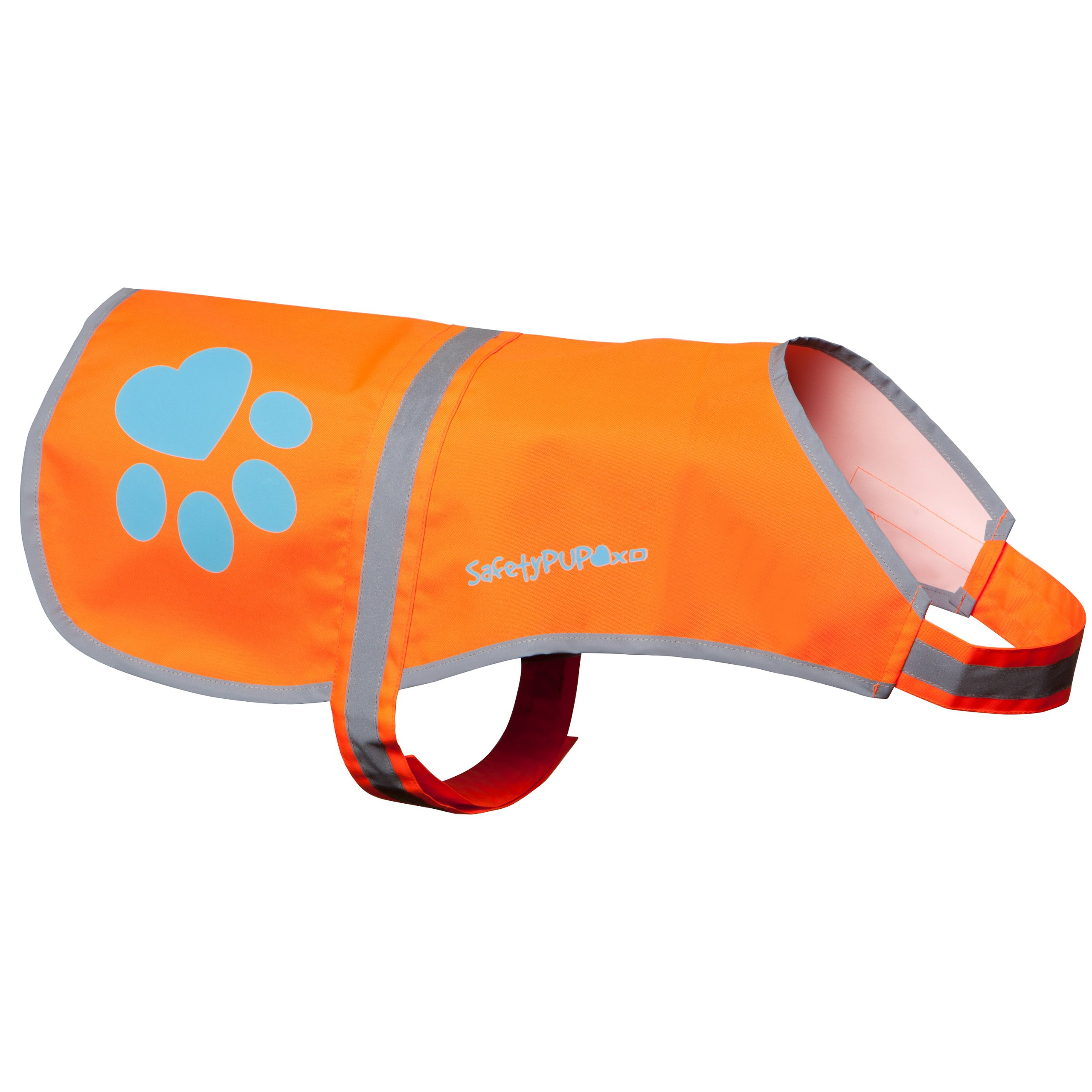 Dog Reflective Vest. Sizes To Fit Dogs 14 lbs To 130 lbs. Blaze Orange Hi Vis Dog Vest Protects Dogs From Cars & Hunting Accidents. (X-Large 100 lbs - 130 lbs)