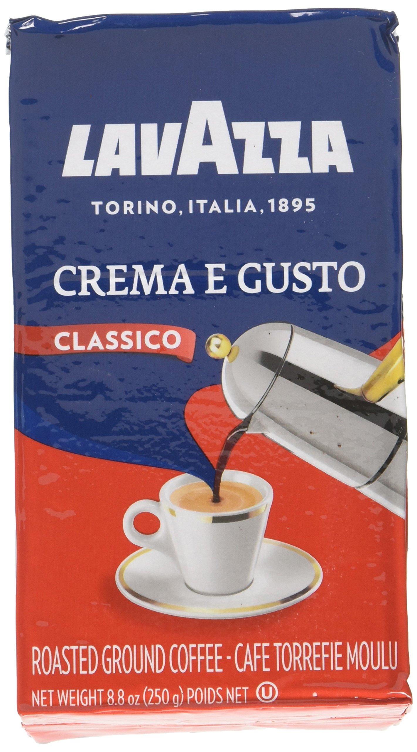 Lavazza Italian ''Crema e Gusto'' Ground Espresso (1 case = 20 x 8.8 oz bricks) by Aroma Cafe Culture