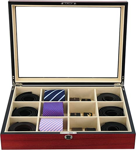 Vitrina para 12 corbatas, cinturones, y accesorios Caja de ...