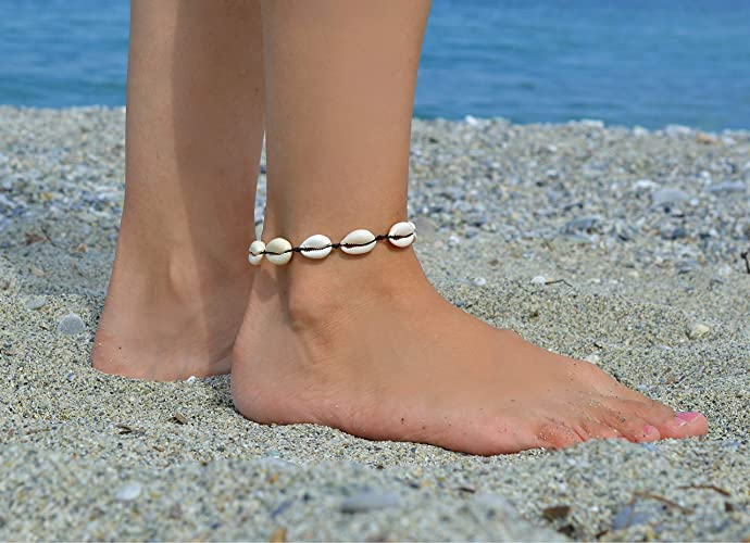 Amazon Com Shell Anklet Shell Ankle Bracelet Cowrie Shell Anklet