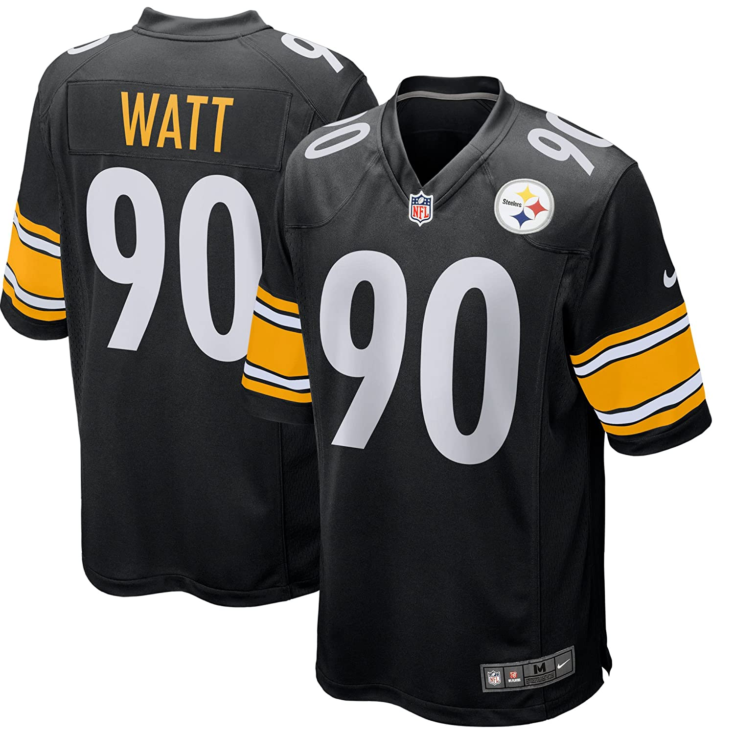 Nike T.J. Watt Pittsburgh Steelers Game Youth Black Jersey (Youth Sizes) da509a3ab