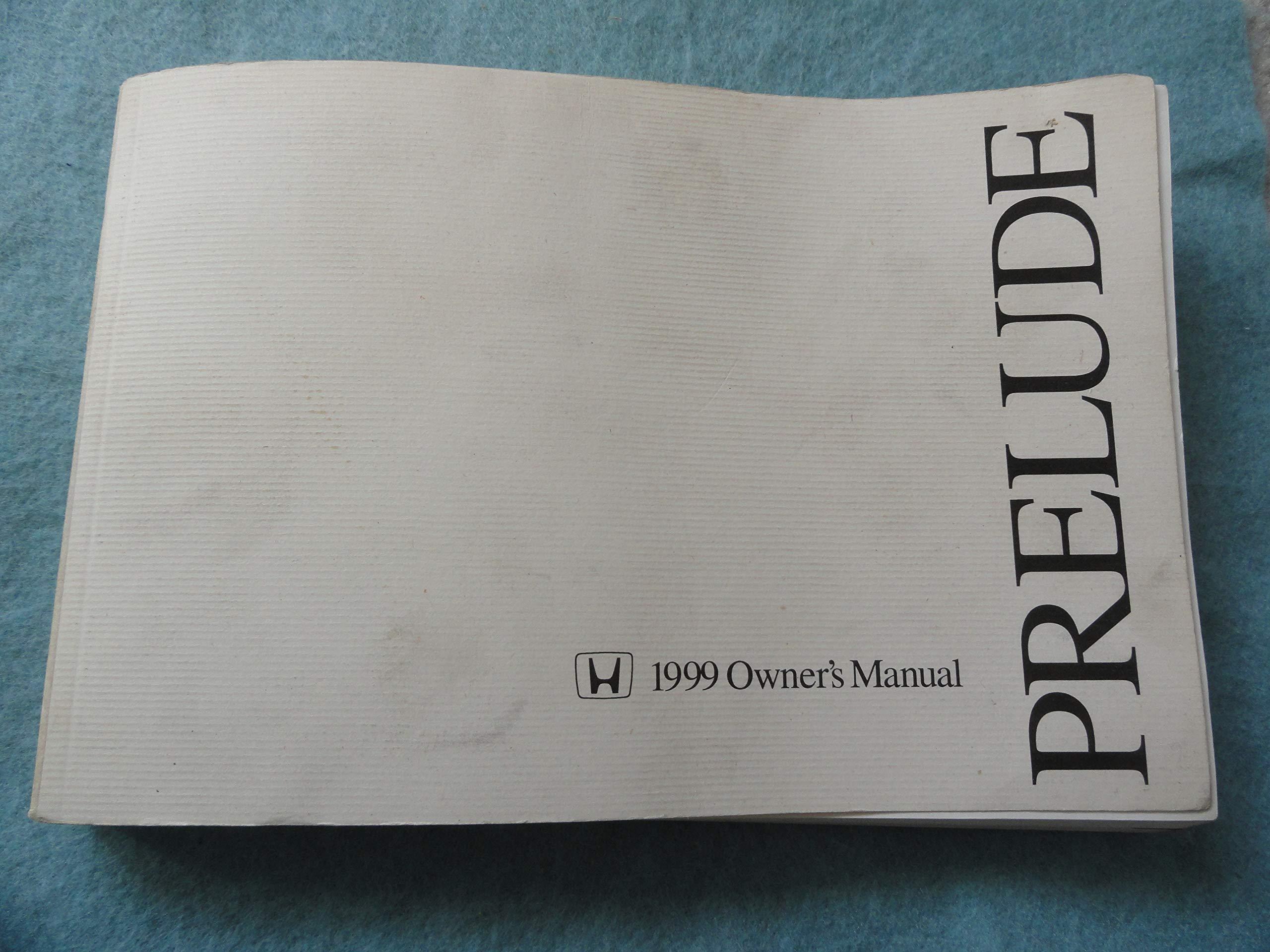 Original 1999 Honda Prelude Owners Manual - 280 Pages: Honda: Amazon.com:  Books