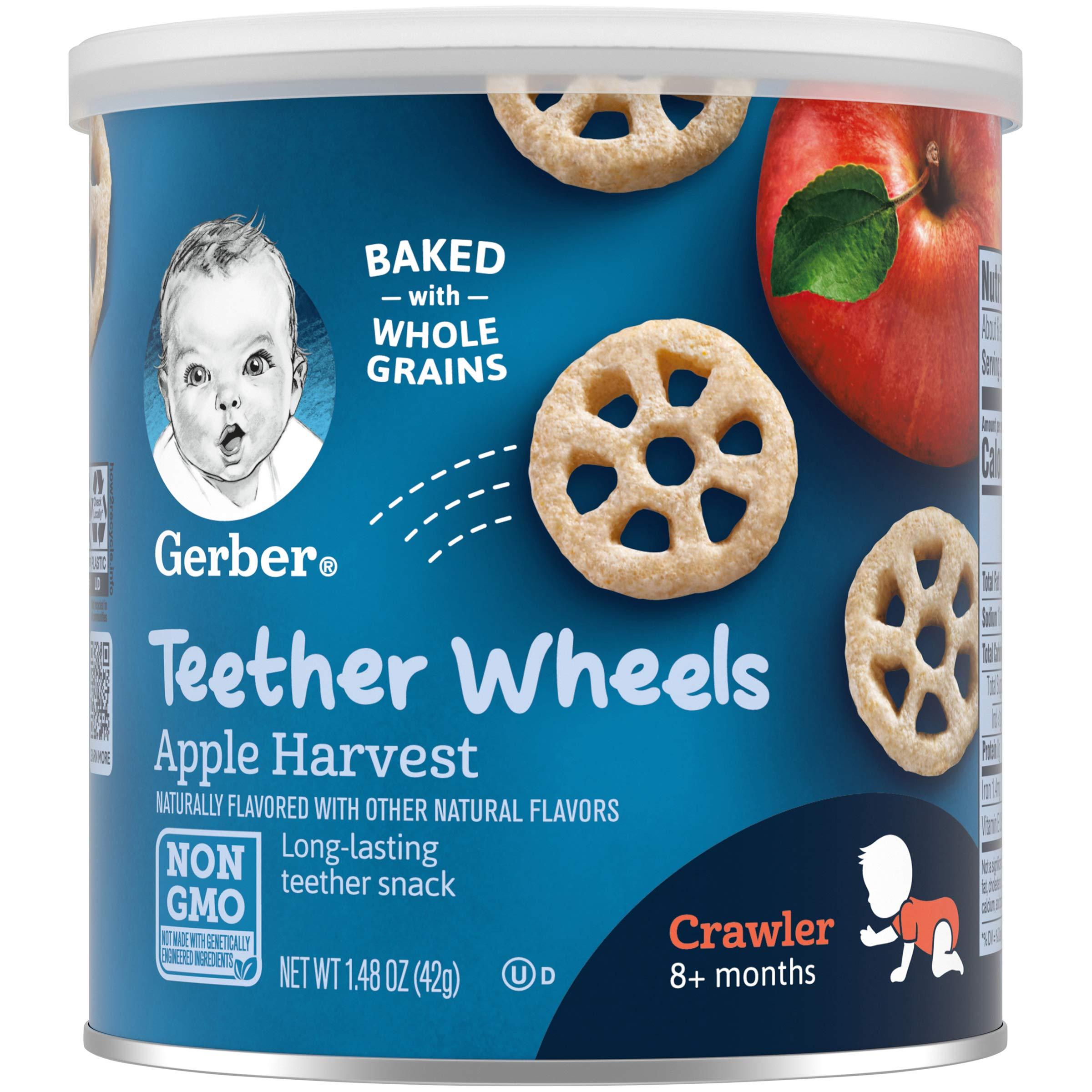 Gerber Teether Wheels, Apple Harvest, 1.48 Ounce (Pack of 6)