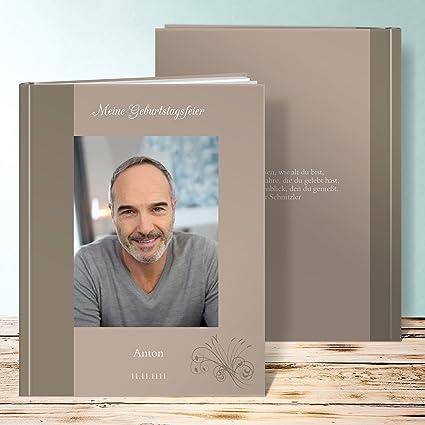 Amazon.de: Fotobuch 60 Geburtstag, Feuerwerk 44 Seiten, Hardcover 234x296  Mm Personalisierbar, Braun