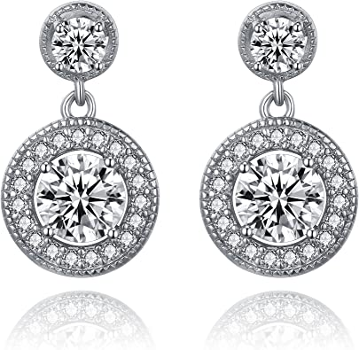 LUX AND GLAM Cubic Zirconia Round Cut Pear-Shape Drop Collection Jewelry Collection Pendant Necklace Drop Earring and Ring Jewelry Sets