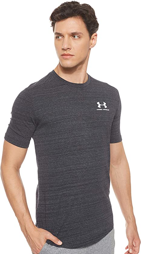 Under Armour Men/'s Crew Tee Shirt Size L or XL Blue SS Charged Cotton New