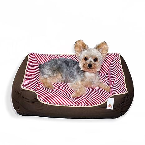 Stinky G cama del perro rayas oblicuas 100% algodón (medio 65 x 55 cm