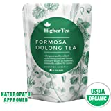New premium Oolong Tea Pyramid Bags, By Higher Tea (14 Tea Bags). Formosa Organic Oolong - the best quality in the world.