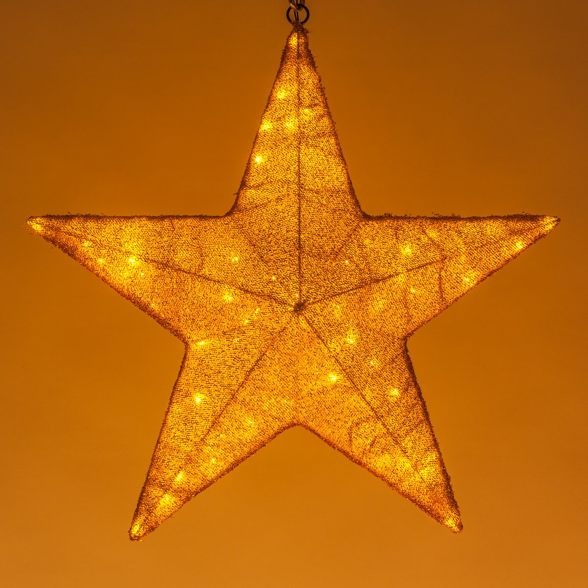 Star Light Decoration, Star LED Light Christmas Decoration – Party Decorations USA Patriotic Decorations; Commercial Decor Light – Party Wedding Decorations, Big Star Light (24 Inch, Gold)