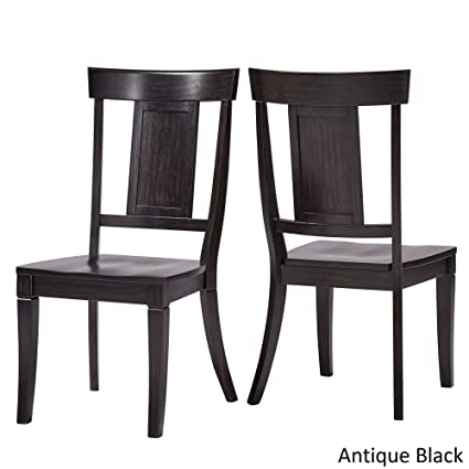 Inspire Q Eleanor Panel Back Wood Dining Chair (Set of 2) by Classic Black - Amazon.com - Inspire Q Eleanor Panel Back Wood Dining Chair (Set Of