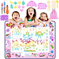 Nabance Agua Dibujo Pintura, 120 X 90 CM Agua Multicolor Alfombra de Dibujo para Niños, No Mancha, Reutilizable Alfombra…