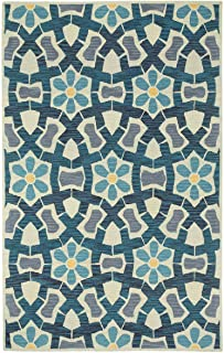 product image for Capel Stepping Stone Sand Blue 7' x 9' Rectangle Hand Tufted Rug