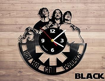 Rhcp música disco de vinilo reloj de pared decoración de la pared, RHCP, RHCP Disco de vinilo, Red Hot Chili Peppers arte: Amazon.es: Hogar