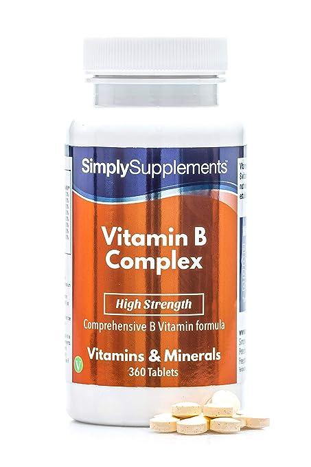 Vitamina B complex- Con todas las vitaminas del grupo B- Apta para ...