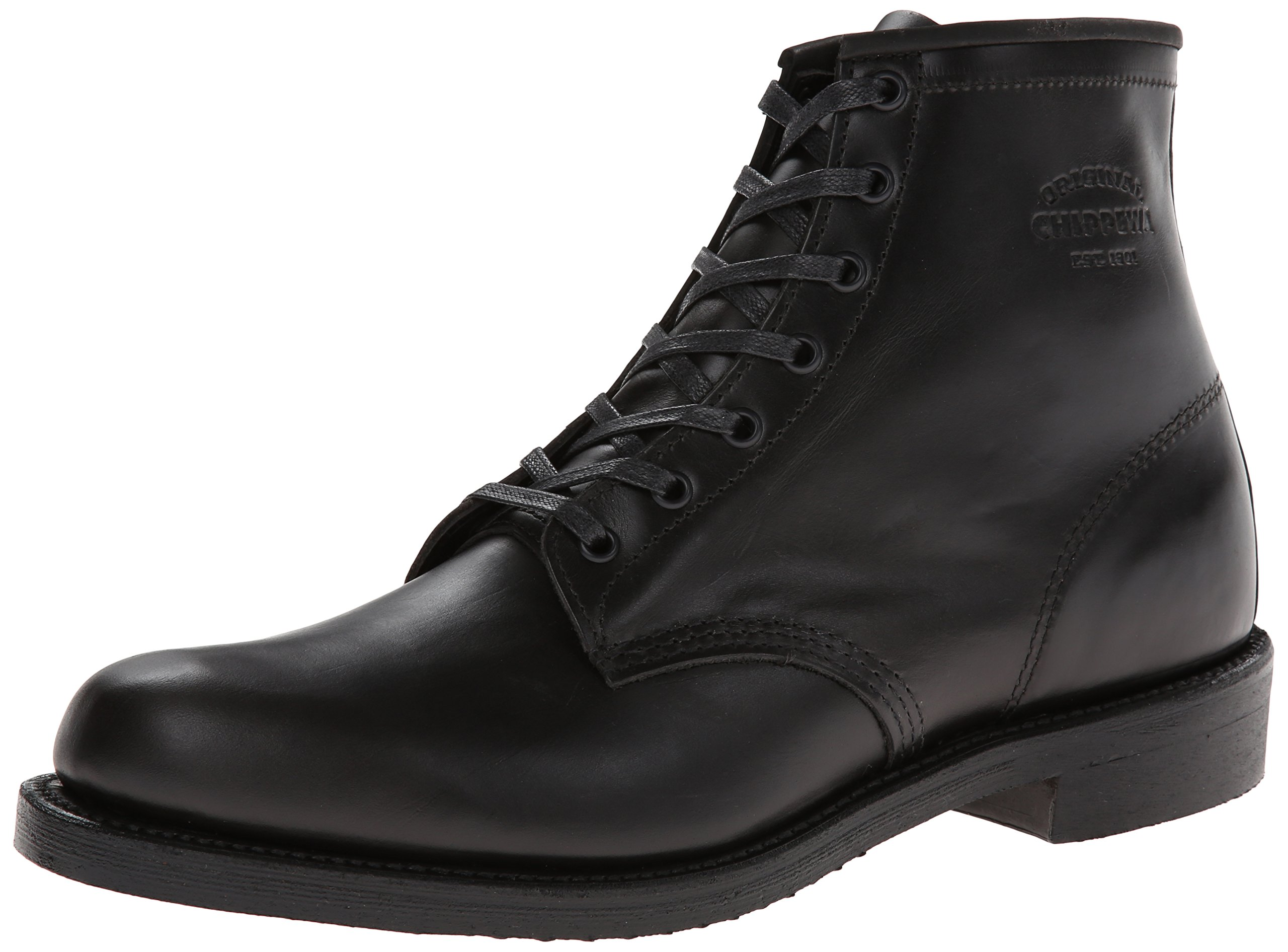 Original Chippewa Collection Men's 1901M82 6 Inch Service Utility Boot, Trooper Black, 9.5 D US