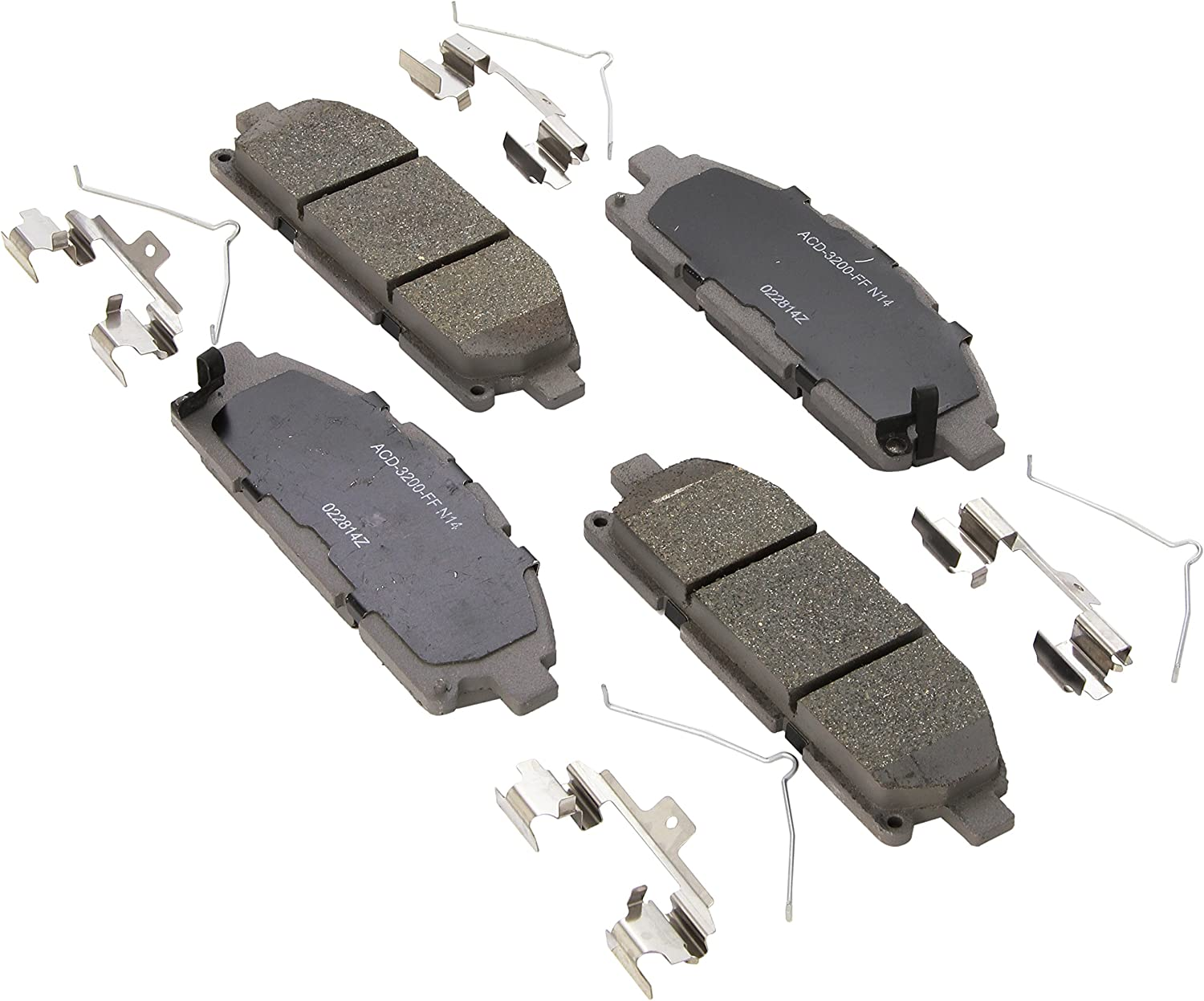 ACDelco 14D1653C Front Ceramic Brake Pads