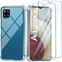Leathlux Funda Compatible con Samsung Galaxy A12/M12,2 Pack Cristal Templado Protector de Pantalla, Ultra Fina…