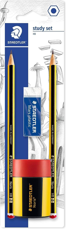 Comprendente 2 Matite Noris Hb /& Basics Carta da stampa multiuso A4 80gsm Staedtler 120 511Bkdst Set Scuola Study Set 500 fogli 1 risma bianco