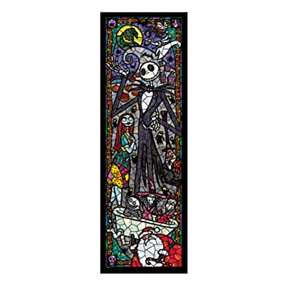 456-piece jigsaw puzzle Stained Art Nightmare Before Christmas tightly series (18.5x55.5cm)