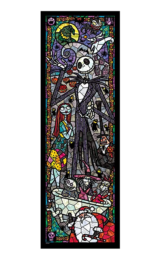 tenyo nightmare before christmas stained glass gyutto size series jigsaw puzzle 456 piece