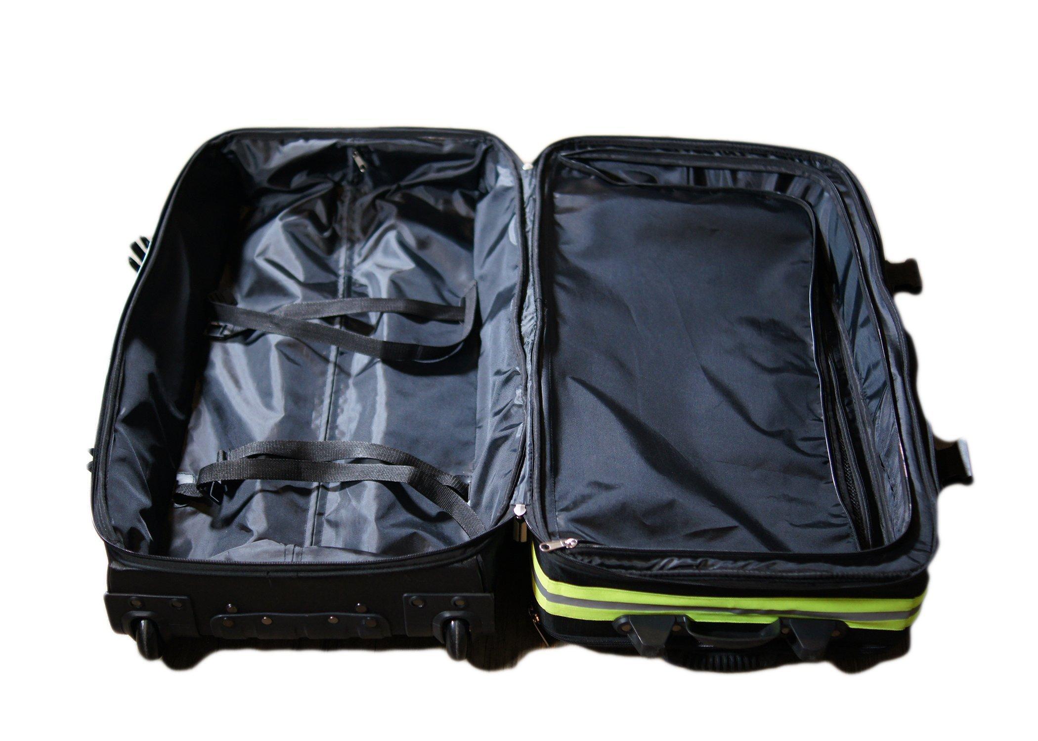 Fireflex Firefighter Rolling Travel Bag (Black) by Firefighters Merchandise (Image #6)