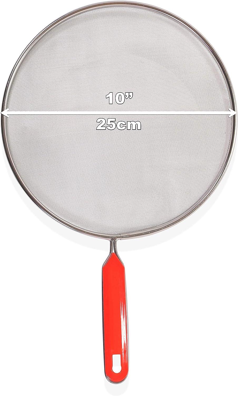 DOMUS724 Pfannen-Spritzschutz zum Verhindern von Fett Set von 3 St/ück aus Edelstahl