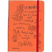 Scrikss Notelook İstanbul Çiçek Pasajı A6 Çizgili Defter