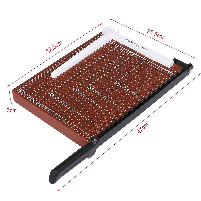 Evokem Tissue Paper Trimmer/Cutter,A4, B5, A5, B6, B7 Paper Cutter Guillotine,Wood Board by Evokem (Image #4)