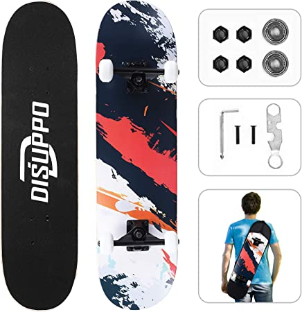 7 strati in acero per ragazzi e ragazze Skateboard standard per principianti DISUPPO