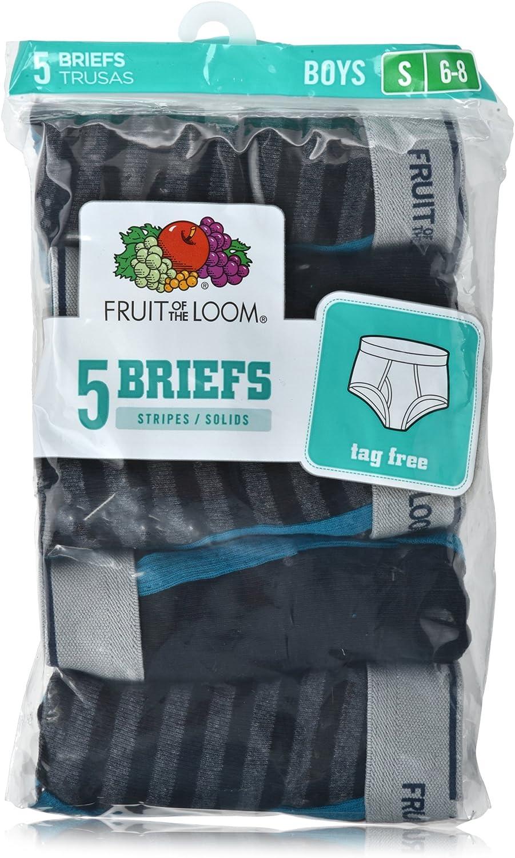 Fruit of the Loom Boys` 5pk Print//Solid Fashion Brief