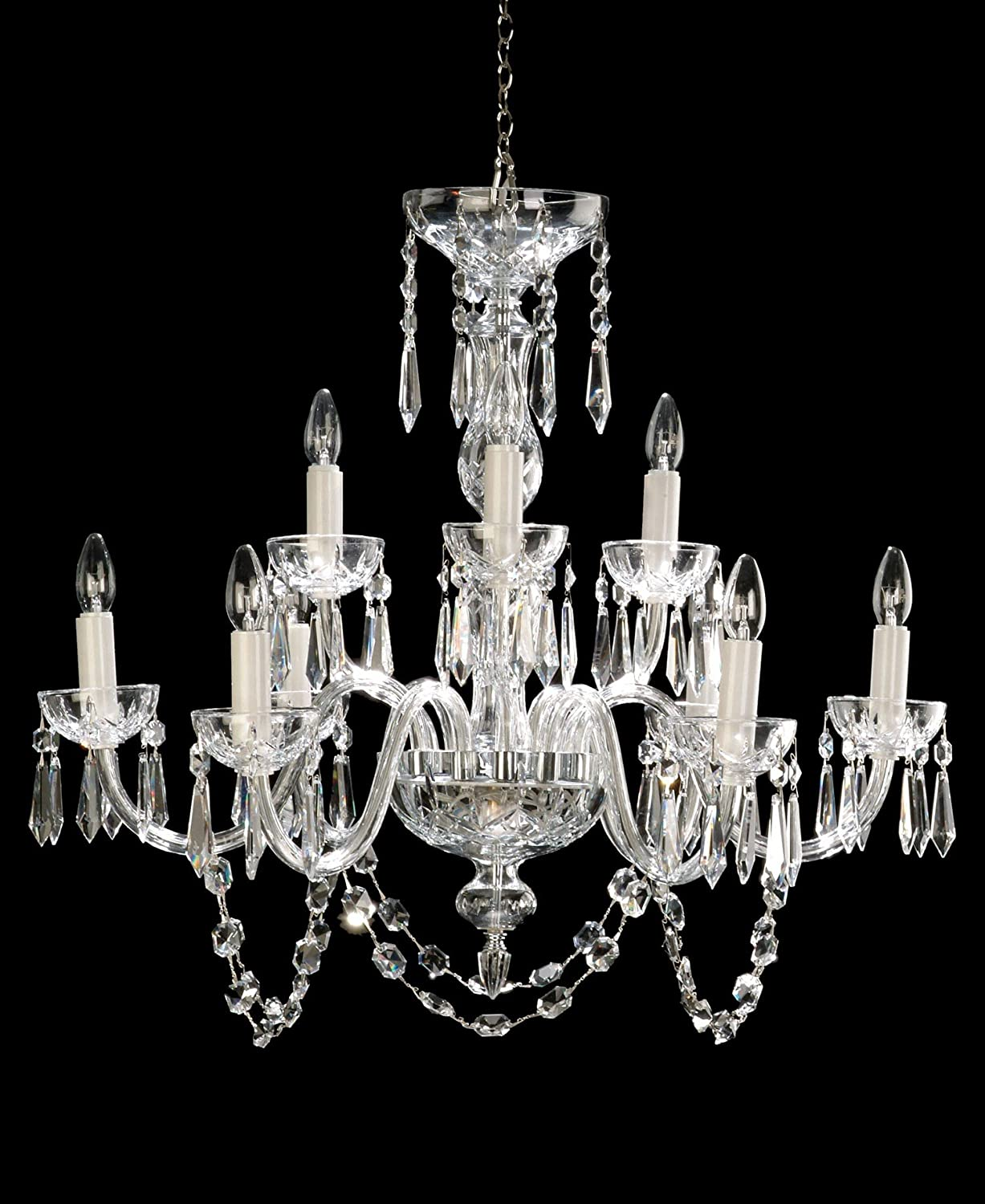 Waterford crystal lismore nine arm chandelier amazon arubaitofo Gallery