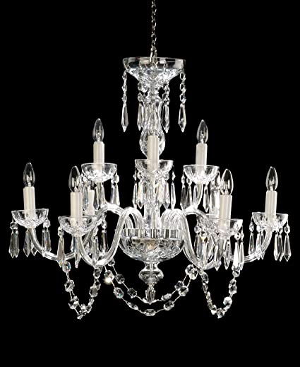 Waterford crystal lismore nine arm chandelier amazon waterford crystal lismore nine arm chandelier mozeypictures Image collections