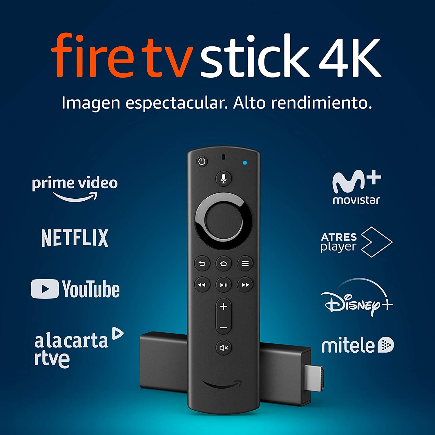 Fire TV Stick 4K Ultra HD con mando por voz Alexa de última generación | Reproductor de contenido multimedia en streaming