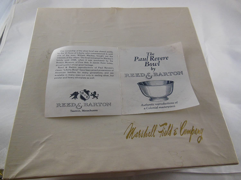 Reed y Barton Paul Revere bañado en plata cuenco 8