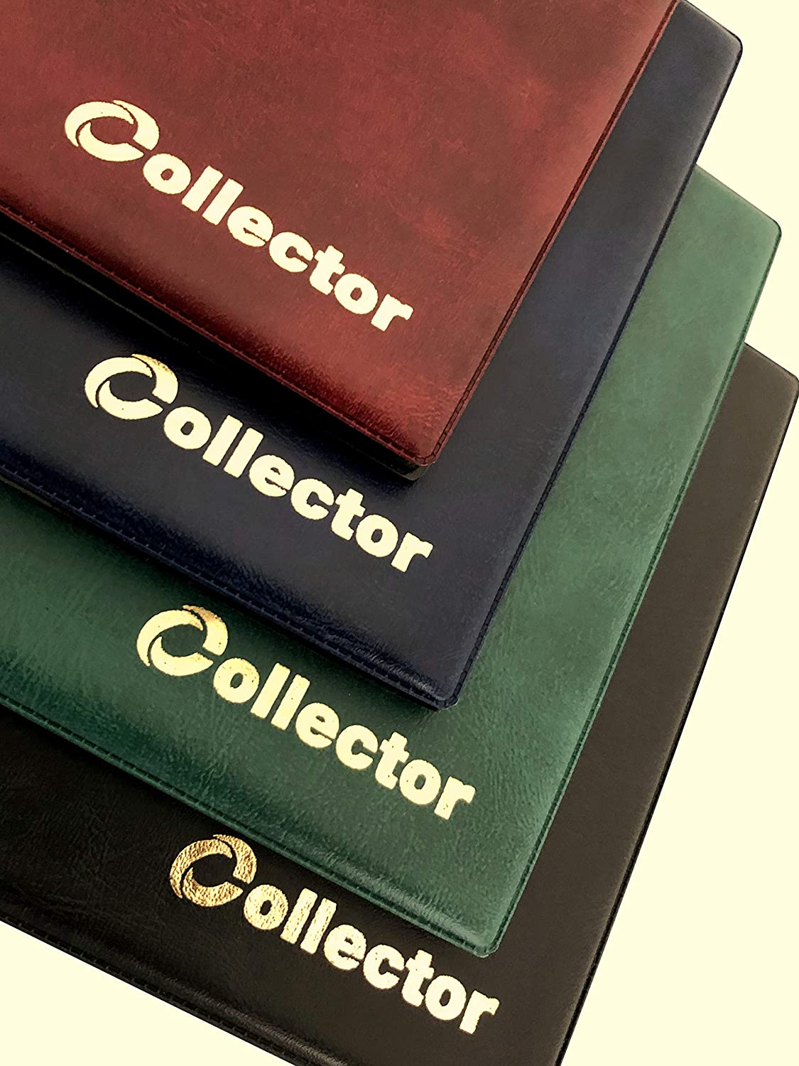 Collector Coin Album for 96 Coins Like A-Z 10 Pence 10p 50p 50 Pence /£1 /€1 /€2 or Other RED