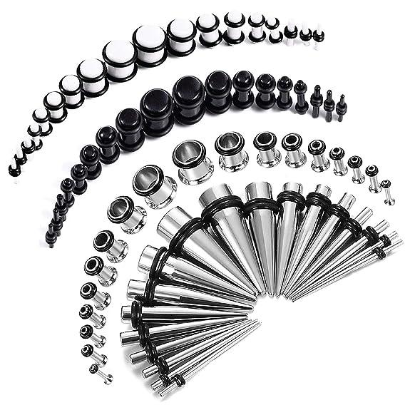 Amazon.com: BodyJ4You kit expansor de oreja de 72 piezas ...