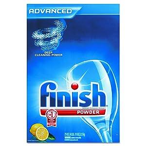 FINISH 78234 Automatic Dishwasher Detergent, Lemon Scent, Powder, 2.3 qt. Box (Case of 6)