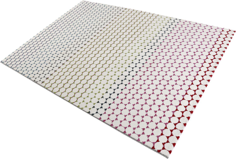 ESPRIT Happy Moderner Markenteppich, Polypropylen, Mehrfarbig, 150 x 80 x 1.3 cm